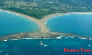 Aerial View of Whale's Tail - Uvita - Costa Rica, Playa Uvita - Parque Marino Ballena, Pacífico Sur, Costa Rica